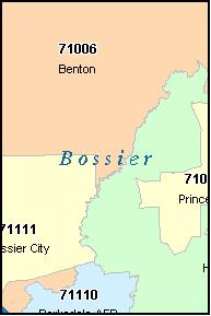 Bossier City Zip Code Map | Zip Code MAP
