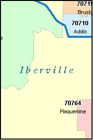 PLAQUEMINE Louisiana, LA ZIP Code Map
