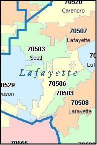 Louisiana Map By Zip Code - Area code for louisiana