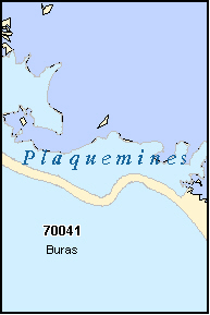 PLAQUEMINES County, LA ZIP Code Map