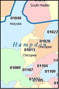 Springfield Mass Zip Code Map | Zip Code MAP