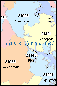 FRIENDSHIP Maryland, MD ZIP Code Map