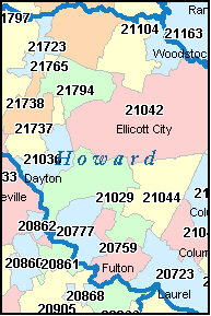 Howard County Md Zip Code Map.Columbia Md Zip Code Map Zip Code Map