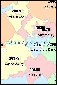 Bethesda Md Zip Code Map | Campus Map