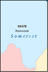 SOMERSET County, ME ZIP Code Map
