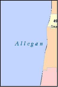 ALLEGAN County, MI ZIP Code Map