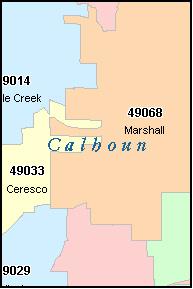 Calhoun County, MI - Michigan ZIP Codes