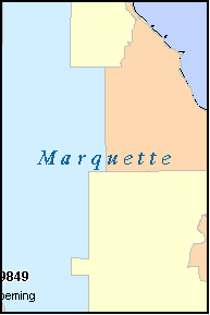 MARQUETTE County, MI ZIP Code Map