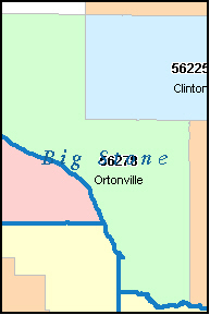 BIG STONE County, MN ZIP Code Map