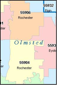 ROCHESTER Minnesota MN ZIP Code Map Downloads