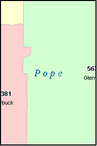 POPE County, MN ZIP Code Map