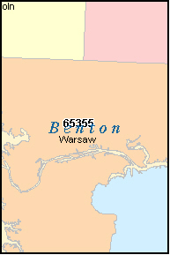 BENTON County, MO ZIP Code Map