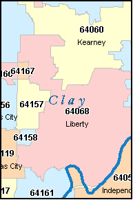 Liberty Mo Zip Code Map
