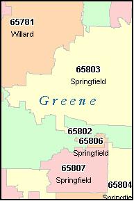 Springfield Mo Zip Code Map | Zip Code MAP