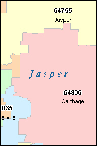 CARL JUNCTION Missouri, MO ZIP Code Map