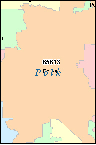 POLK County, MO ZIP Code Map