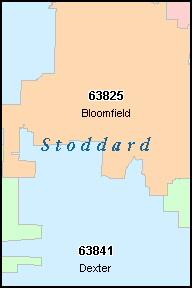 STODDARD County, MO ZIP Code Map