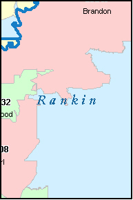 RANKIN County, MS ZIP Code Map
