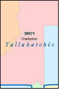 TALLAHATCHIE County, Mississippi Digital ZIP Code Map