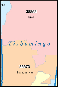 TISHOMINGO County, MS ZIP Code Map