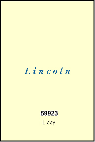 LINCOLN County, MT ZIP Code Map