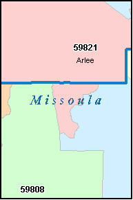 MISSOULA County, MT ZIP Code Map