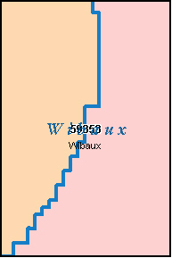 WIBAUX County, MT ZIP Code Map