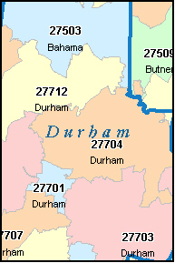 Durham County Zip Code Map Zip Code Map