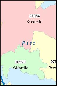 Greenville Nc Zip Code Map | Zip Code MAP