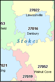 STOKES County, NC ZIP Code Map