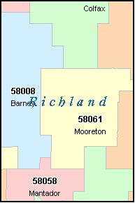 ABERCROMBIE North Dakota, ND ZIP Code Map