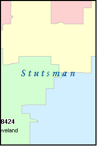 STUTSMAN County, ND ZIP Code Map