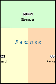 PAWNEE County, NE ZIP Code Map