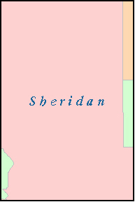 SHERIDAN County, NE ZIP Code Map