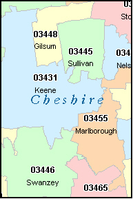 KEENE New Hampshire NH ZIP Code Map Downloads