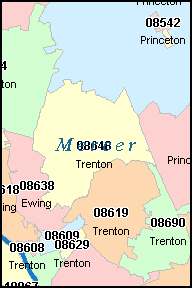Trenton Nj Zip Code Map | Zip Code Map