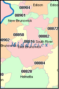 OLD BRIDGE New Jersey, NJ ZIP Code Map