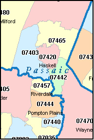HEWITT New Jersey, NJ ZIP Code Map