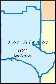 LOS ALAMOS County, New Mexico Digital ZIP Code Maplos alamos county