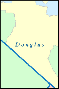 DOUGLAS County, NV ZIP Code Map