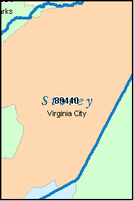 STOREY County, NV ZIP Code Map