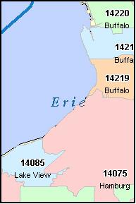 Buffalo New York Zip Code Map | Zip Code MAP