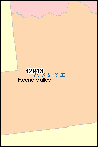 ESSEX County, NY ZIP Code Map