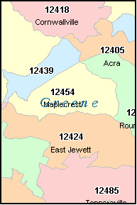 GREENE County, NY ZIP Code Map