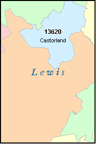 LEWIS County, NY ZIP Code Map
