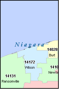 NIAGARA County, NY ZIP Code Map