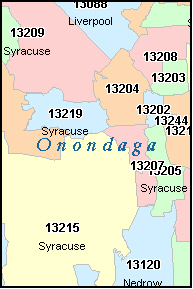 EAST SYRACUSE New York, NY ZIP Code Map