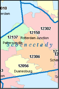SCHENECTADY County, New York Digital ZIP Code Mapschenectady county