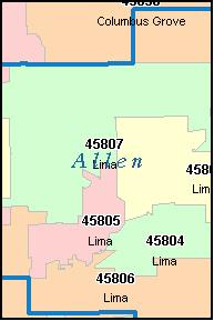 Lima Ohio Zip Code Map.Snap Allen County Zip Code Map Zip Code Map Photos On Pinterest