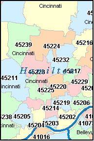 Cincinnati Oh Zip Code Map | Zip Code MAP